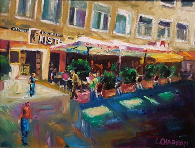 Kartoffel Restaurant Kiste - Gemälde von Louis Chagnon