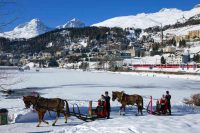 ENGADIN St. Moritz: Schlitteda am St. Moritzersee